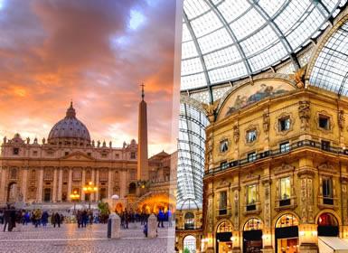 Italia: Roma, Florencia, Venecia y Milán Al Completo A Tu Aire en tren