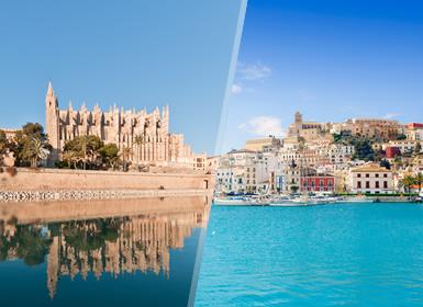 Circuitos por España en Avión: Islas Baleares: Mallorca e Ibiza