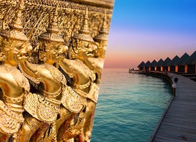 Viajes Playas de Tailandia, Islas del Índico, Maldivas 2017: Combinado Bangkok y Playas de Maldivas flexible