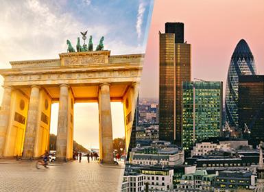 Inglaterra y Alemania: Londres y Berlín en avión