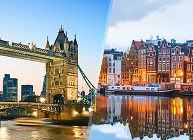 Viajes Holanda, Inglaterra, Países Bajos 2017: Londres y Ámsterdam en avión