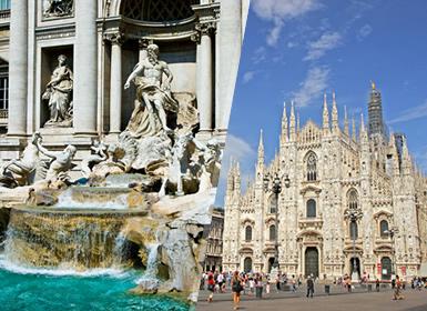 Circuitos Italia: Roma y Milán en avión