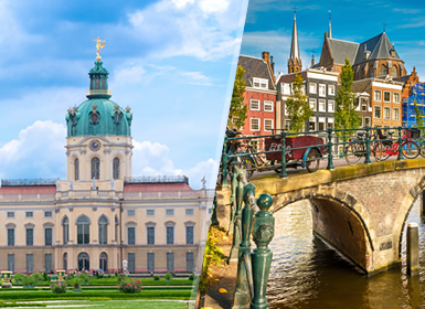 Alemania y Países Bajos: Berlín y Ámsterdam en avión