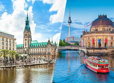Viajes baratos Alemania: Berlín y Hamburgo en tren