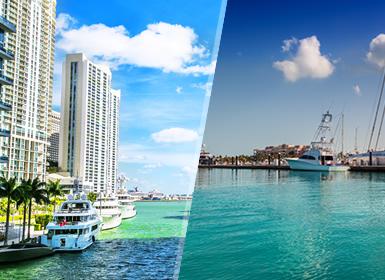 EEUU y Las Islas Turcas y Caicos: Miami y Providenciales