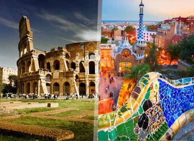 Viajes Italia, Francia, Cataluña, Madrid 2017: Circuito Clásico Roma, Florencia, Barcelona y Madrid