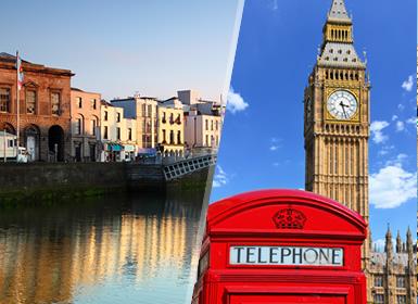 Circuitos Europa: Islas Británicas: Londres y Dublín en avión