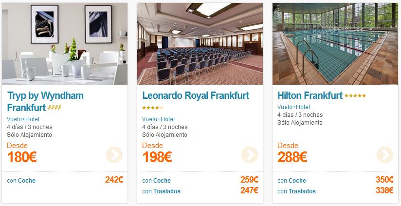 Ofertas Vuelo + Hotel Frankfurt