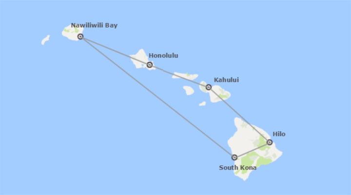 EEUU: Navegando por Hawai