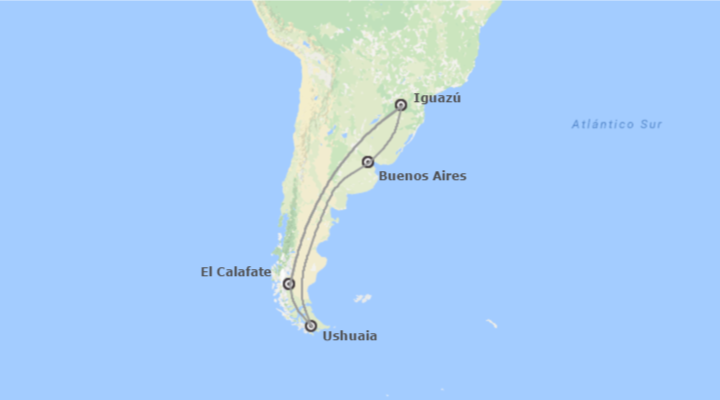 Patagonia Argentina e Iguazú Al Completo