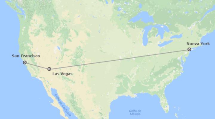 EEUU: Nueva York, Las Vegas y San Francisco