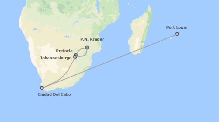 Sudáfrica y Mauricio Al Completo
