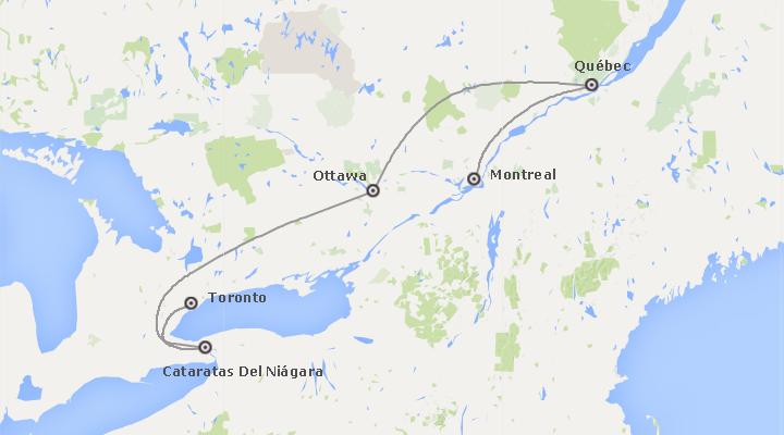 Canadá: Este Canadiense desde Toronto a Montreal