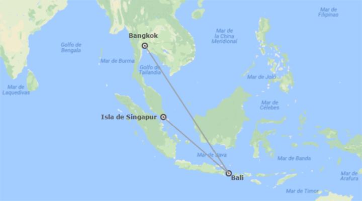 Combinado: Bangkok, Bali y Singapur