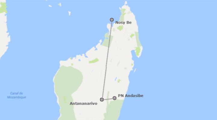 Madagascar: Andasibe y Playa de Nosy Be Al Completo