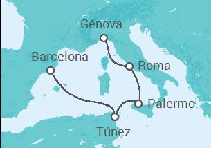 Italia, Túnez, España
