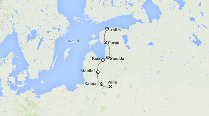 Combinado: Vilnius, Riga y Tallin