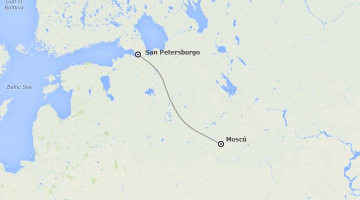 Rusia: San Petersburgo y Moscú tren diurno
