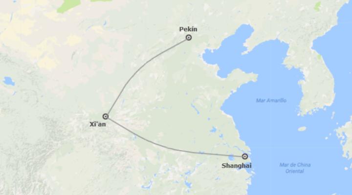 China: Beijing, Xian, Shanghai en tren