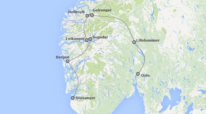 Noruega: De Oslo a Stavanger con Fiordos y Glaciares