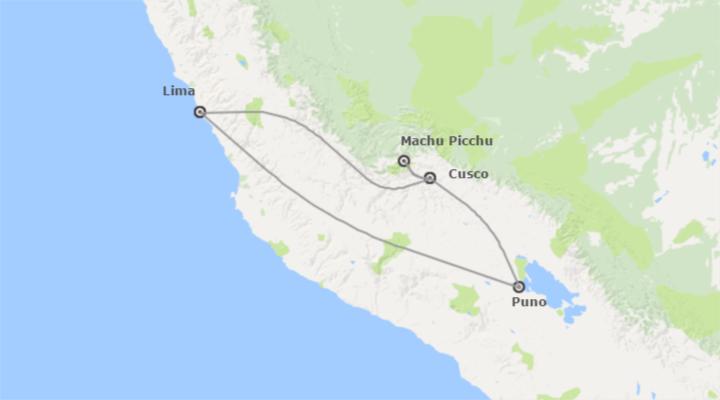 Circuitos organizados mapa