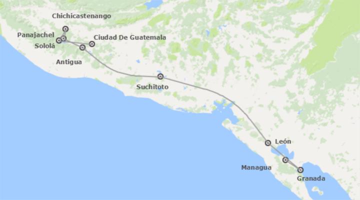 Combinado: Guatemala, El Salvador y Nicaragua