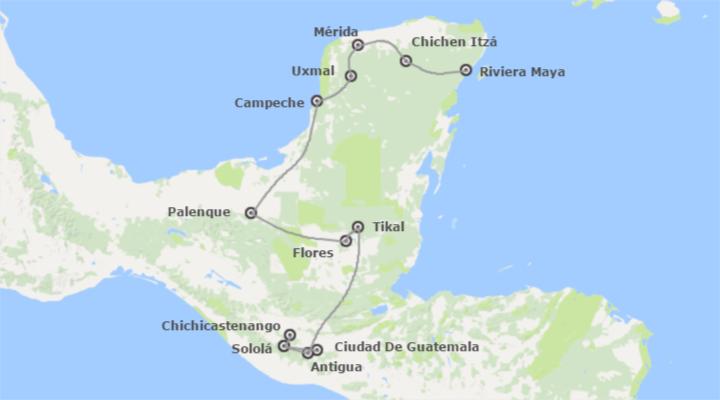 Combinado: Altiplano, Tikal, Chiapas y Yucatán