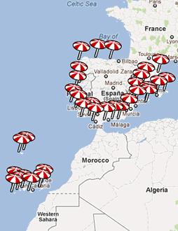 Hoteles de Playa en el Mapa