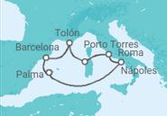 Novios 2017 Itinerario del Crucero Colores del Mediterráneo - Pullmantur
