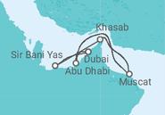 Novios 2017 Itinerario del Crucero Espejismos en el desierto - MSC Cruceros