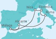 Itinerario del Crucero Leyendas del Mediterráneo - Pullmantur