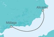 Itinerario del Crucero España - Pullmantur