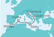 Itinerario del Crucero España, Malta, Croacia, Italia - MSC Cruceros