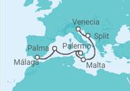 Itinerario del Crucero España, Italia, Malta, Croacia - MSC Cruceros