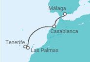 Itinerario del Crucero España, Marruecos - Pullmantur