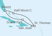 Novios 2017 Itinerario del Crucero Bahamas, Puerto Rico - Carnival Cruise Line
