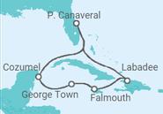 Novios 2017 Itinerario del Crucero Caribe Occidental - Royal Caribbean