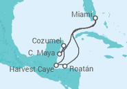 Novios 2017 Itinerario del Crucero México, Honduras, Belize - NCL Norwegian Cruise Line
