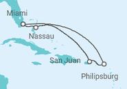 Novios 2017 Itinerario del Crucero El paraíso a tu alcance - MSC Cruceros