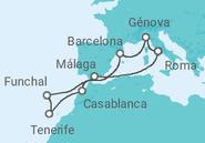 Novios 2017 Itinerario del Crucero Navegando hacia la frontera del Trópico - MSC Cruceros