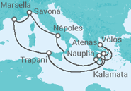Novios 2017 Itinerario del Crucero Grecia antigua y monasterios de meteora - Costa Cruceros