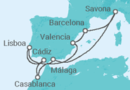 Itinerario del Crucero Más allá de las columnas de Hércules - Costa Cruceros