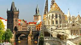 chollo vacaciones en Centroeuropa: Praga y Budapest en avión