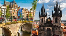 chollo vacaciones en Noroeste y Centro de Europa: Praga y Ámsterdam en avión