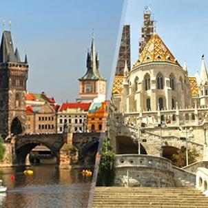 Viajes baratos Centroeuropa: Praga y Budapest en avión