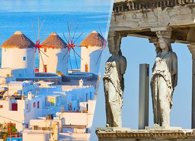 Viajes Grecia 2019-2020: Combinado Atenas y Mikonos en avión