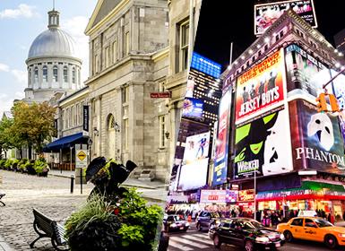 Viajes EEUU, Canadá y Costa Este 2019-2020: Paquete USA: Nueva York y Montreal