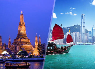 Viajes China y Tailandia 2019: Combinado Bangkok y Hong Kong flexible en noches
