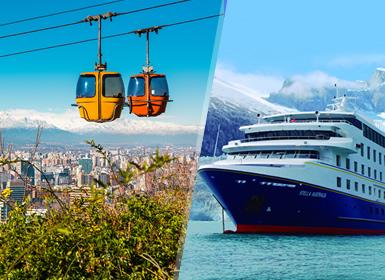 Viajes Chile y Argentina 2018-2019: Santiago de Chile y Calafate con Crucero Australis desde Punta Arenas a Ushuaia