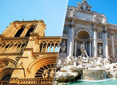 Viajes Francia e Italia 2019: Capitales de Europa: París y Roma en avión
